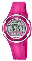 Calypso Women's Digital Watch with LCD Dial Digital Display and Pink Plastic Strap K5692/6