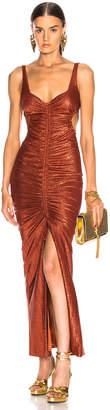 Galvan Sahara Dress in Rust | FWRD