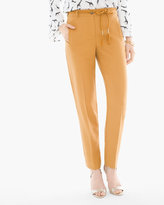 Chico's Rope Belt Tapered Ankle Pants