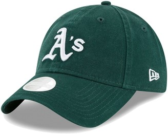 New Era Women's Green Oakland Athletics Logo Core Classic Twill Team Color 9TWENTY Adjustable Hat