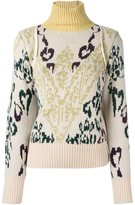 Sacai intarsia jumper - women - Nylon/Wool - II