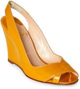 Christian Louboutin Mustard Marpoil Slingback Wedge Sandals