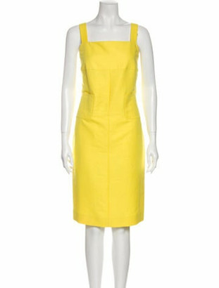 Chanel 2012 Knee-Length Dress Yellow