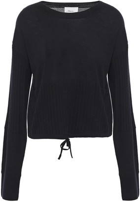 3.1 Phillip Lim Cropped Ribbed Cashmere-blend Sweater