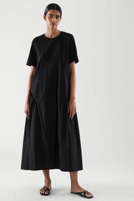 Cos Pleated Midi T-Shirt Dress