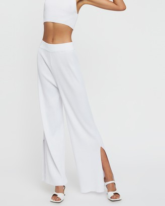 Lioness Women's White Pants - Riviera Pants - Size L at The Iconic