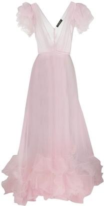 Jenny Packham Ruffle Detail Long Dress