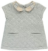 Burberry Quilted Taryn Dress with Tartan Collar