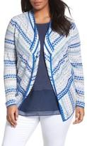 Nic+Zoe Plus Size Women's Prism Stitch Cardigan