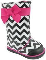 Baby Deer Black & White Chevron Boot