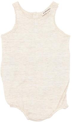 Slub Cotton Jersey Bodysuit