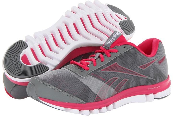 Reebok SubLite Duo Chase (Flat Grey/Rivet Grey/Candy Pink) - Footwear