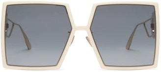 Christian Dior 30montaigne Oversized Square Acetate Sunglasses - Ivory