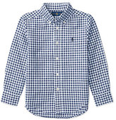 Ralph Lauren Long-Sleeve Gingham Sport Shirt, Blue, Size 2-4