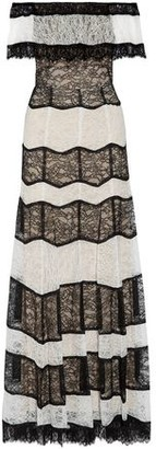 Alice + Olivia Anika Off-the-shoulder Corded Lace Gown
