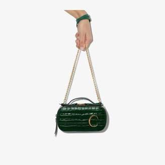 Chloé Womens Green Womens Green C Crocodile-effect Crossbody Bag
