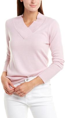 Forte Cashmere Shawl Collar Cashmere Pullover