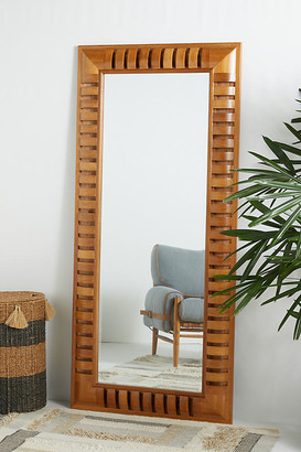 Anthropologie Jacobi Beveled Floor Mirror By in Beige