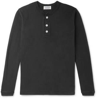 Velva Sheen Slim-Fit Garment-Dyed Cotton-Jersey Henley T-Shirt