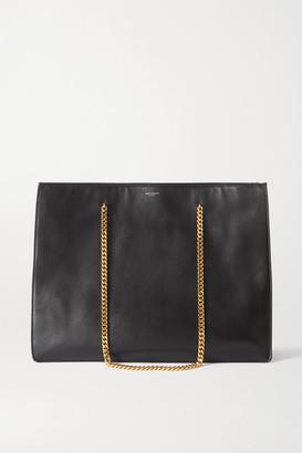 Saint Laurent Medium Leather Tote - Black