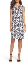 Adrianna Papell Women's Print Sheath Dress