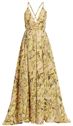 BURNETT NEW YORK Pina Jacquard Evening Gown