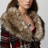 Denim & Supply Ralph Lauren Faux-Fur-Trim Plaid Cardigan