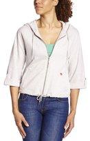Dorotennis Women's VESTE ZIPPEE CAPUCHE molleton flammé chiné Plain or unicolor 3/4 Sleeve Sweatshirt - -