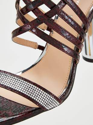 Very Cage Strap High Round Heel Sandal