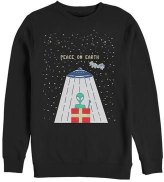Fifth Sun Men's Sweatshirts and Hoodies BLACK - Black 'Peace on Earth' Pullover Sweatshirt - Men