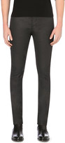 The Kooples Slim-fit skinny mid-rise coated stretch-denim jeans