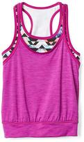 Athleta Girl Shadow Stripe All For One Tank