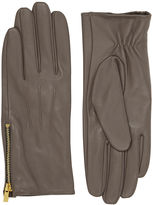 """Oasis LEATHER ZIP SIDE GLOVE [span class=""""variation_color_heading""""]- Mid Grey[/span]"""