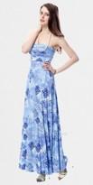 Tie Dye Crest Print Maxi Dresses by Classique