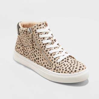 Universal Thread Women's Brooklin High Top Leopard Print Sneakers - Universal ThreadTM Brown
