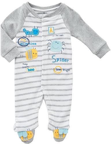 Babies 'R' Us Babies R Us Boys' Raglan Sleeve Sleep 'N' Play