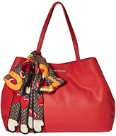 Love Moschino Tote with Monkey Scarf Tote Handbags
