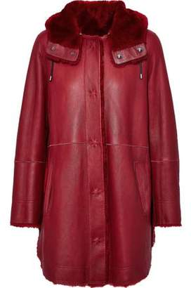 Yves Salomon Reversible Shearling Hooded Coat