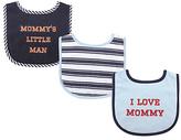 Luvable Friends Navy 'Mommy's Little Man' Drooler Bib Set