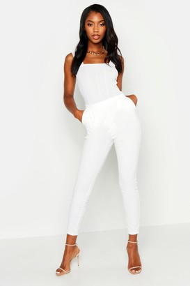 boohoo Basic Crepe Super Stretch Skinny Trousers