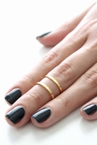 joolz by Martha Calvo Open Double Bar Ring in Gold