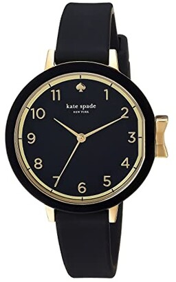 Kate Spade Park Row Silicone - KSW1352 (Black) Watches