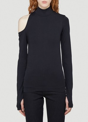 Helmut Lang Cut Out Long-Sleeved Top