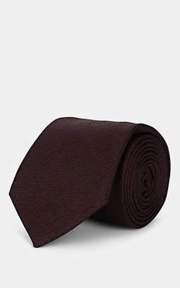 Melange Home Bigi Men's Wool Necktie - Brown