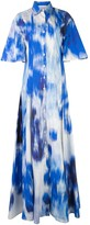 Carolina Herrera Abstract Print Shirt Gown
