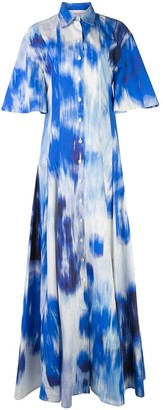 Carolina Herrera Abstract Print Shirt Gown
