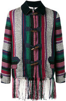 Sacai Mexican stripe fringe jacket - men - Cotton/Nylon/Rayon/Wool - 2