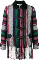Sacai Mexican stripe fringe jacket