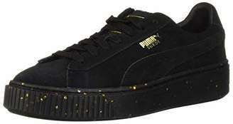 Puma Women's Suede Platform Celebrate WN's Sneaker White Team Gold