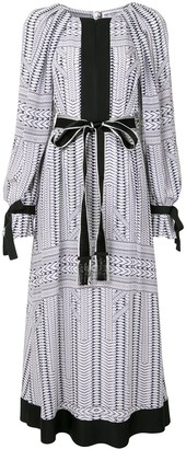Amanda Wakeley Silk Chevron Print Dress